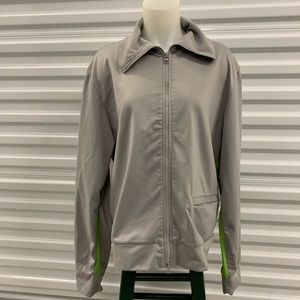 Calvin Klein Jeans grey & lime green windbreaker